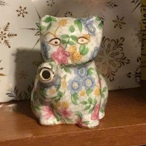 Alexandra Floral Ceramic Cat/Kitten Pitcher